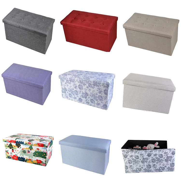 2018 Fabric Lattice Great Hidden Storage ottoman