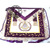 HAND EMBROIDERED MASONIC LODGE MASTER MASONIC APRON PURPLE