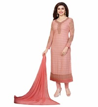 Semi Stitched Dresses Collection 2017 / Latest Ocassion Wear Dress Latest Casual Office Wear Evening Dress (salwar kameez Suits)