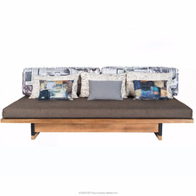 Greg Wooden Sofa With Custom Cushion