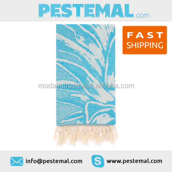 Ice colored Turkish Beach Towel | Quick dry Premium wrap around Sarong with tassel