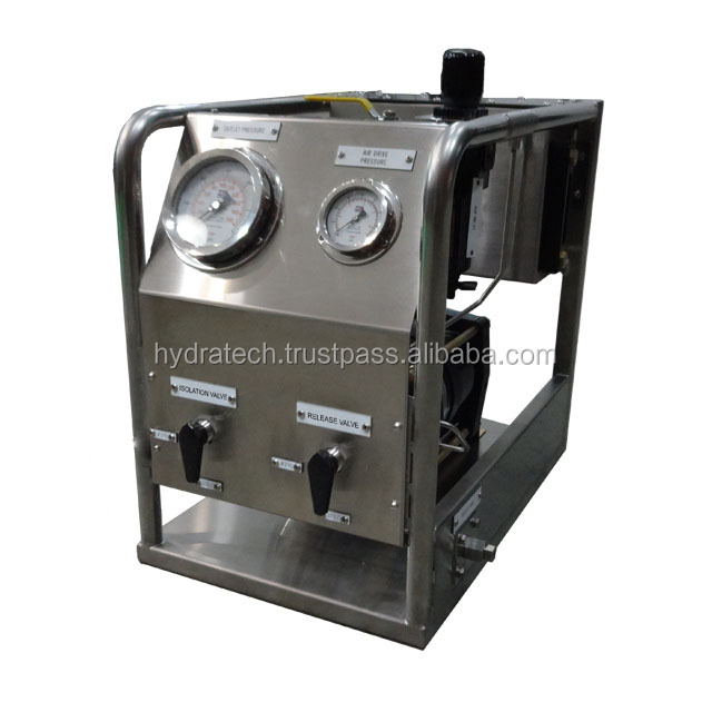 High Pressure Hydraulic Test Pump with 2 gallon stainless steel supply tank, up to 3600psi