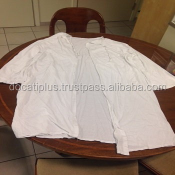 back open white medical patient shirts