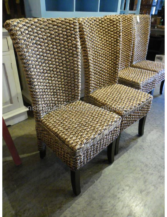 Wicker Water Hyacinth Chair, Water Hyacinth wooven Jepara Java Indonesia Suppliers and Manufacturers