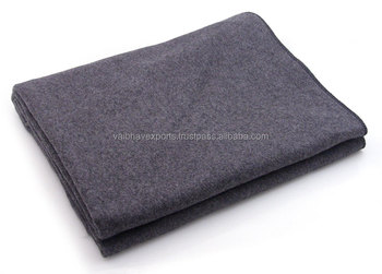 Grey Wool Army Military Blankets