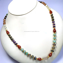 NATURAL AAA QUALITY FACETED MULTI-STONE Necklace