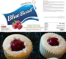 Blue Bead Bake Stable Raspberry Filling Cream With Pieces