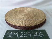 Cheap price wicker cushion nice design high quality seagrass stool lovely home usage straw handicraft