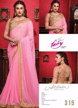 Bikaw Fashion Pink Color Georgette Saree Collection