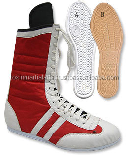Best Price New Style genuine leather boxing shoes