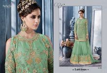 designer anarkali party wear dresses and straight suits stone work