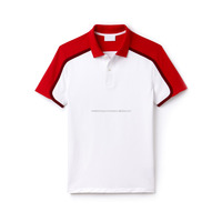 Custom Colorblock Polo Shirt Short Sleeve Slim Fit Mens Polo Shirts With Logo Embroidery