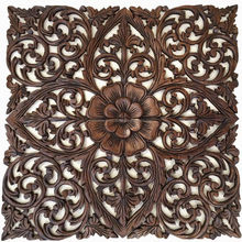 Wood carved wall decor, mdf,mango wood