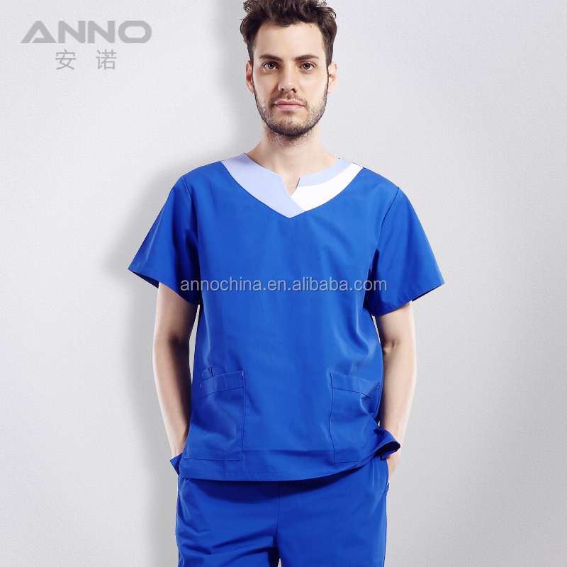 2018 hot sell new design medical scrubs design male nurse uniform