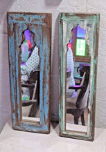 High Quality Recycled Wood Glass Wall Mirror with Frame