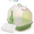 870-C Semi-Transparent White Dome covered Cat Litter Box Cat Toilet with Scoop and Sifter