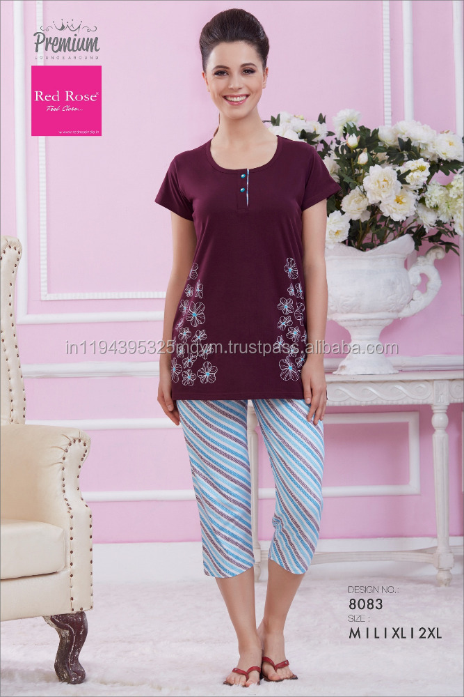 Ladies Night Suits Designs Casual Home Wear Sleeping Clothes For Women