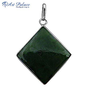 Square Vasonite 925 Sterling Silver Pendent
