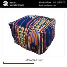 Largement Vente Cuir Pouf/pouf Marocain