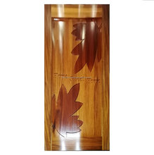 Solid merpauh wood maple leaves best fancy modern design exterior door
