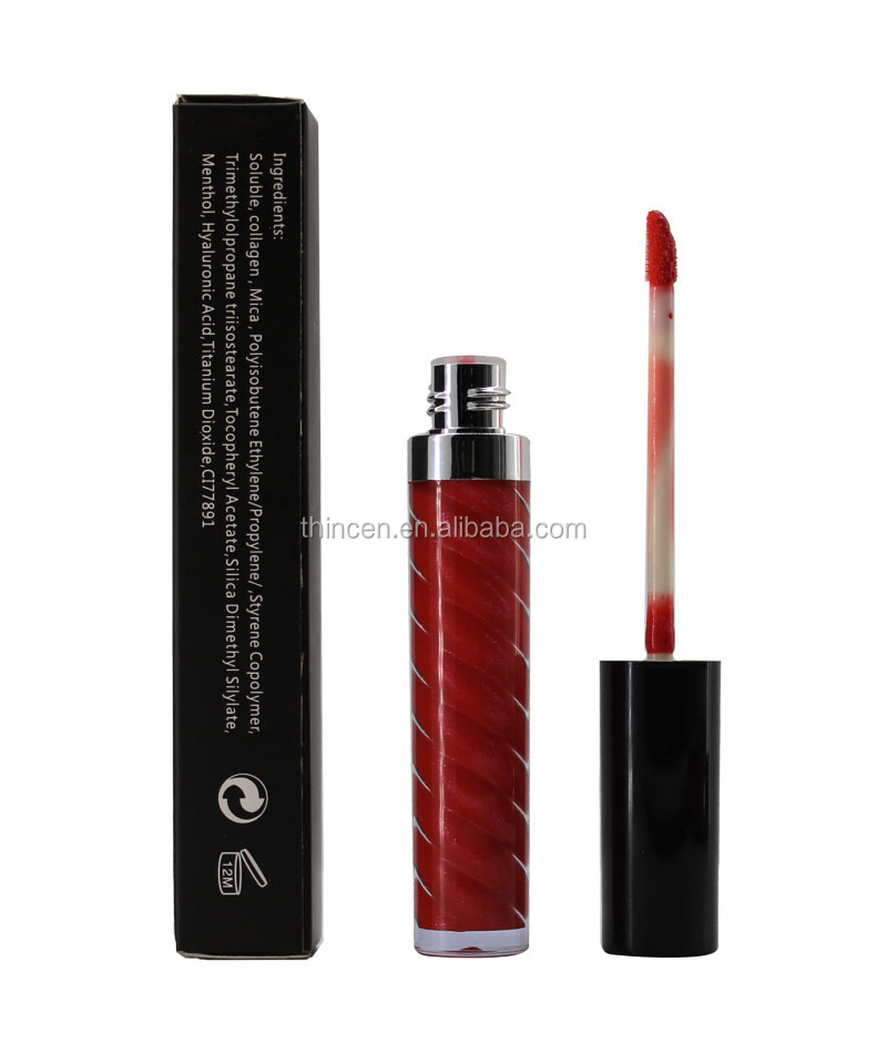 Wholesale customize your logo glitter lipgloss make your own lip gloss