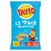 Tayto Assorted Flavour Potato Crisps 12 x 25g (300g)