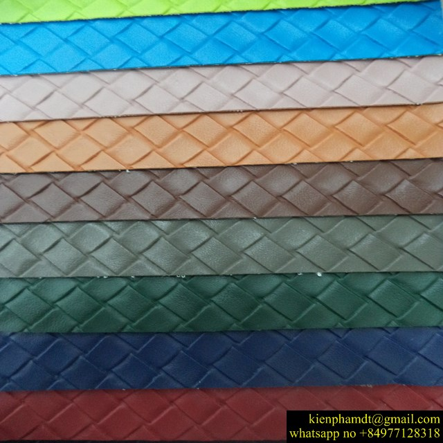 High Grade Embossed PVC Automobile Upholstery Leather, Car Seat Leather, Elastic fabric pvc artificial leather
