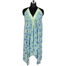 hand block cotton maxi bath robe designer