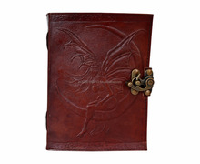 LEATHER FAIRY MOON BOOK OF SHADOWS LATCH SPELLS JOURNAL PENTACLE WICCA CELTIC BOOk JOURNAL
