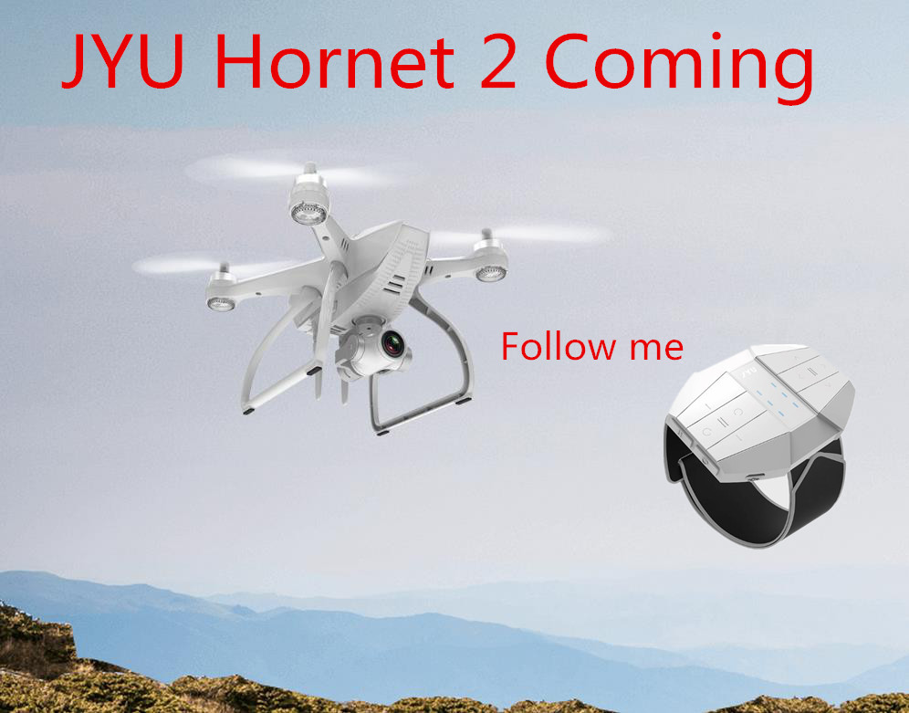 Jyu Original Hornet 2 Professional GPS Drones RC 4CH Quadcopter with 4K HD Camera Gimbal