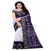 Super Looking Indian Traditional Festival Women Wear Printed Bollywood Bandhej Worked Designer Bandhani Sarees