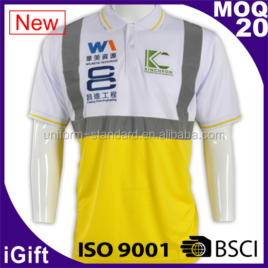 ANSI Class 3 EN471 Hi Vis High Visibility Reflective Safety Clothing Polo Shirt