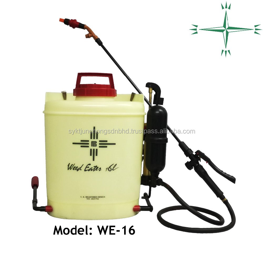 16L Malaysia Cross Mark Sprayer High Pressure Low Volume Professional Agriculture Knapsack Sprayer Weed Eater (Original WE-16)