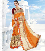 blouse designs for border worked georgette saree