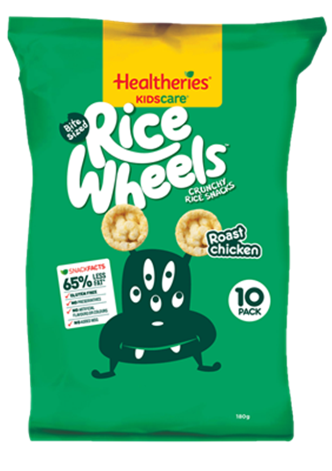 Wholesale Snacks Healtheries KidsCare Rice Wheels - Roast Chicken