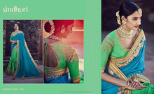 latest designing saree blouse round wedding ladis wear work with full embroidery