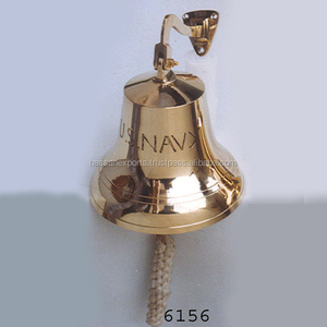 Nautical Brass Ship Bell U.S. Navy Engraved For Sale