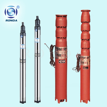 QJ vertical high head multistage centrifugal pump submersible borehole pump