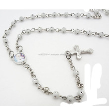 4mm glass beads rosary with cross Wholesale Catholic Rosaies