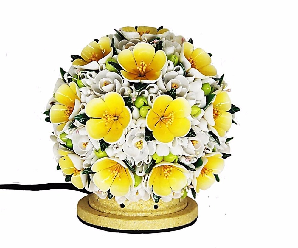 OB-010 (C)-2 Shell Decorated Table Lamp Design
