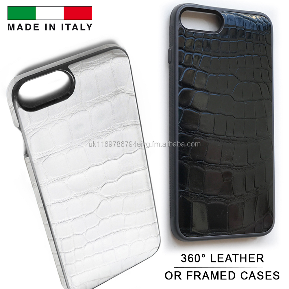 Genuine Crocodile Leather Phone Case for 6, 6 Plus, 7, 7 Plus & 8 Made in Italy