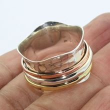 Wholesale plain silver spinner ring new design handmade ring offer 925 sterling silver ring jewelry