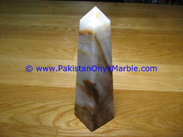DECORATIVE PAKISTAN SUPPLIER ONYX OBELISKS HANDCARVED WHITE