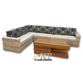 Comfortable Sectional Sofa Fabric Furniture solid wood material home furniture