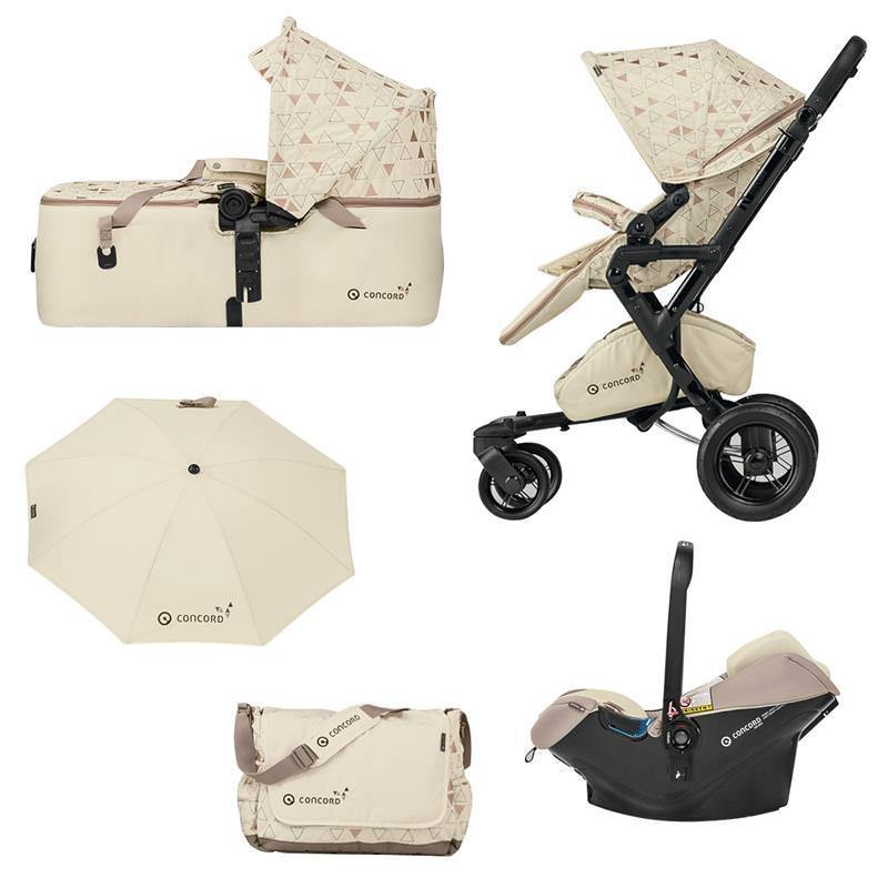 Baby Stroller Concord Neo Mobility Set Buggy Baby Bath Tub & Carry Cot Special Edition Ivory