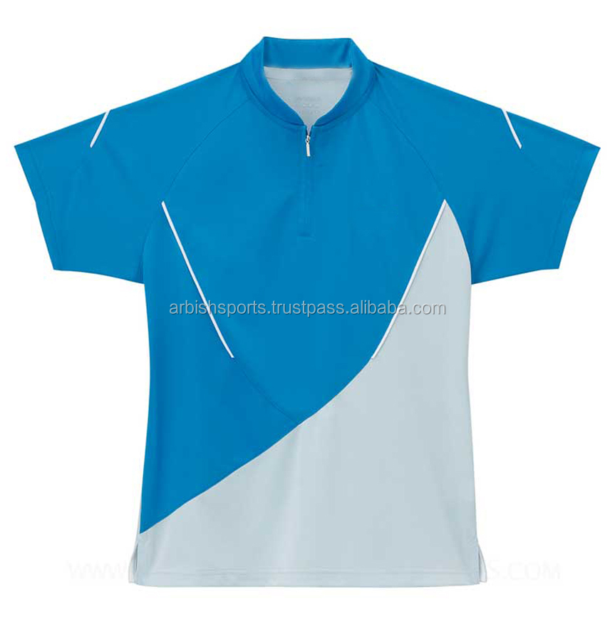 100% Polyester Sublimated Blue & Grey Polo Shirts