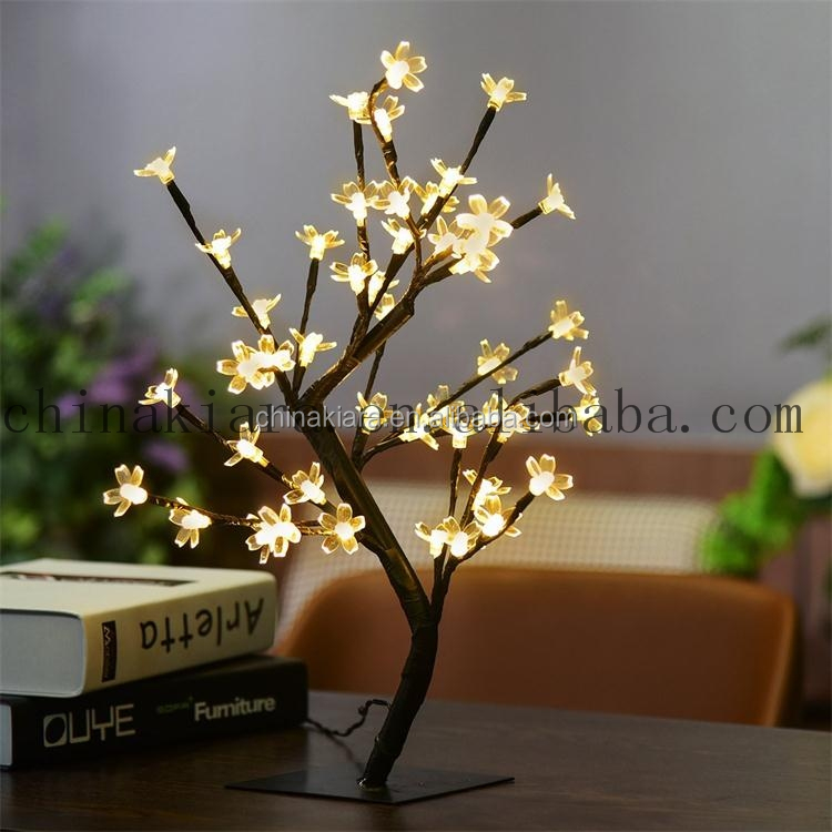 Factory supply battery operated cold white 48 LED cherry blossom tree