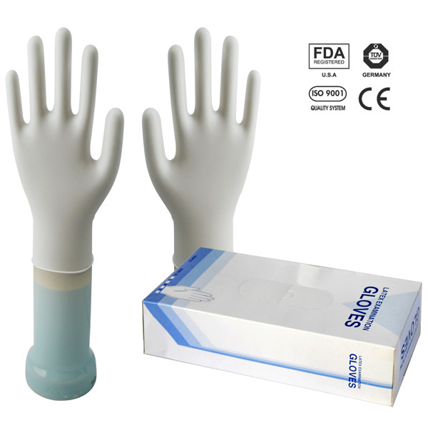 biodegradable disposable latex gloves with powdered and powder free