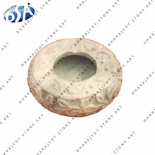 White Carving Marble Ashtray