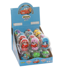 Candy sweet egg with push back car mini racer